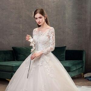 Image 5 - Mrs Win vestidos De novia De manga larga, novedad del 2020 en vestidos De encaje De lujo para baile musulmán, Vestido De boda hecho a medida, Vestido De novia X