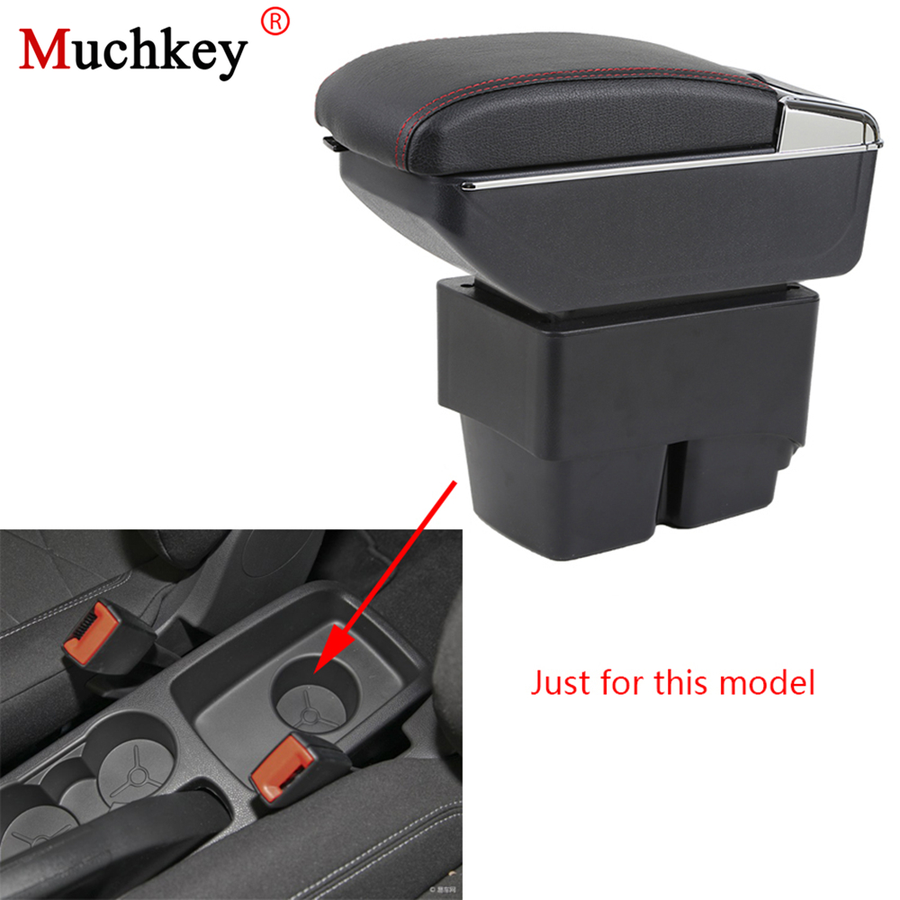 Armrest box For Ford Fiesta 3 MK7 2009-2017 Central Console Arm Store content box cup holder ashtray With Rise and Down Function car usb armrest box for ford fiesta 3 mk7 center storage box cup holder ashtray console armrest interior car styling accessories