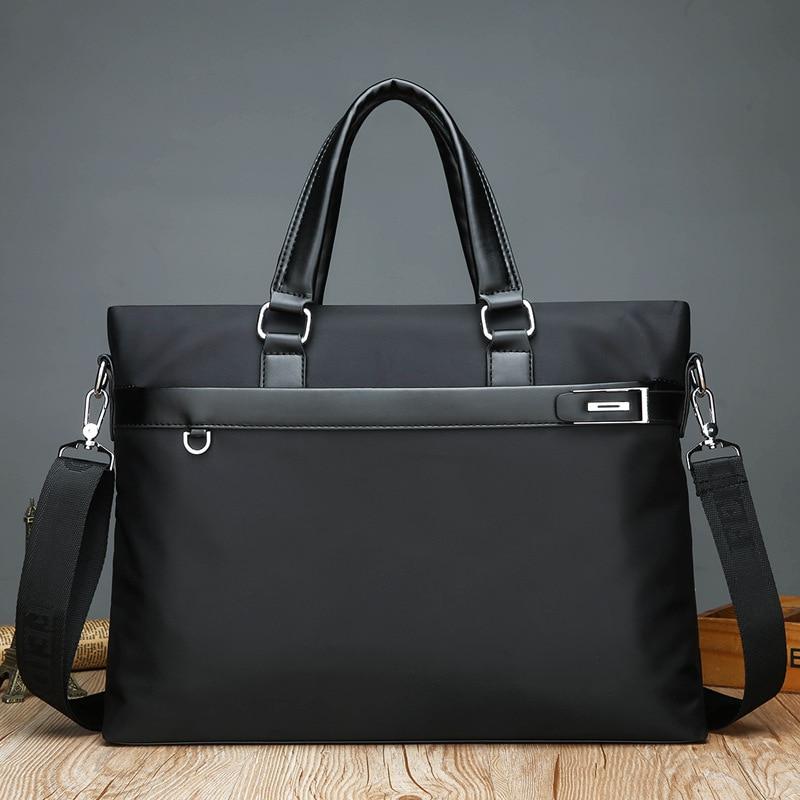 14 Zoll Tragbare Herren Aktentasche Wasserdichte Laptop Computer Tasche Große Kapazität Mode Männer Handtaschen