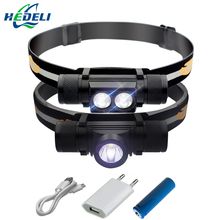 camping light led headlamp cree xm l2 USB headlight  flashlight Head torch led head light waterproof 18650 rechargeable battery