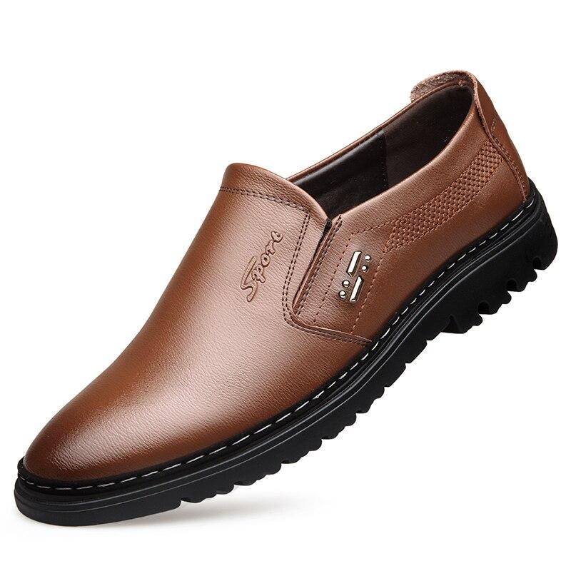 Chaussures Nouvelle Mode Printemps Plat 1 Cuir De Été Les Glissement Sur 2 Mocassins Décontractées VéritableHomme Da046 Hommes TcJl1FK