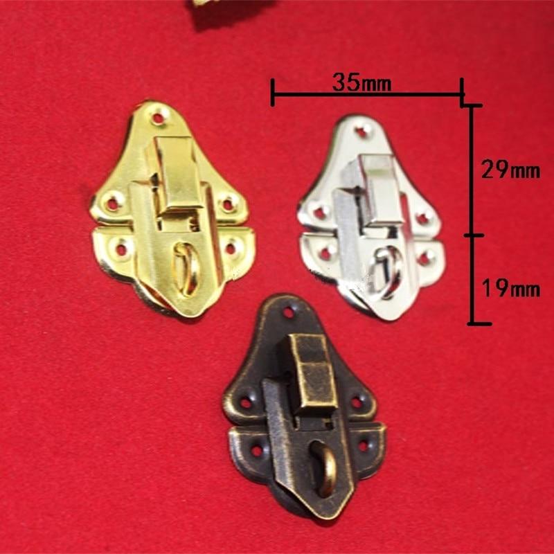 Vintage Jewelry Box Padlock Latch Hasp Locked Handbag Case Buckle Hardware 10pcs