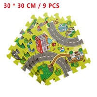 9 pièces Split Joint bébé tapis de jeu EVA mousse souple tapis de jeu route Puzzle tapis pour enfants jouer tapis d'éducation intérieur enfants cadeau