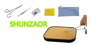 SHUNZAOR Suture Training Kit -medical skin model Simple range suture kit for beginners 6pcs/set shunzaor medical skin suture practice manipulation practice technique training modules kit