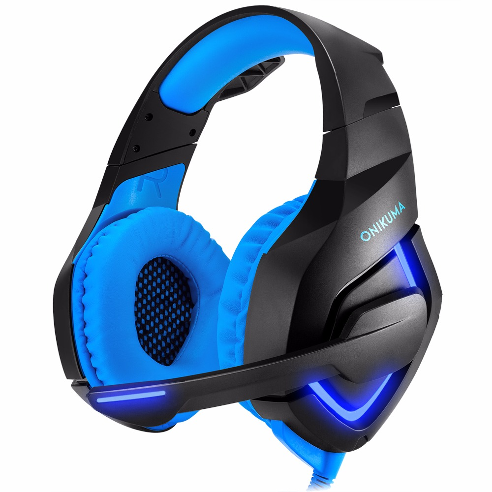 ONIKUMA K1-A Wired Noise Isolating Heavy Bass Over-ear Headset With Mic High Quality Good Sound Gaming Headphones Professional pc gaming headset gm 3 wired stereo led light bass over ear professional gaming headphones with 3 5mm mic noise isolating