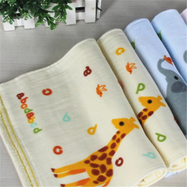 Mano animal de la historieta infantil toalha towel accesorios para bebés de bebé de algodón de gasa muselina squares 60a046 towel for kids 3 cargado