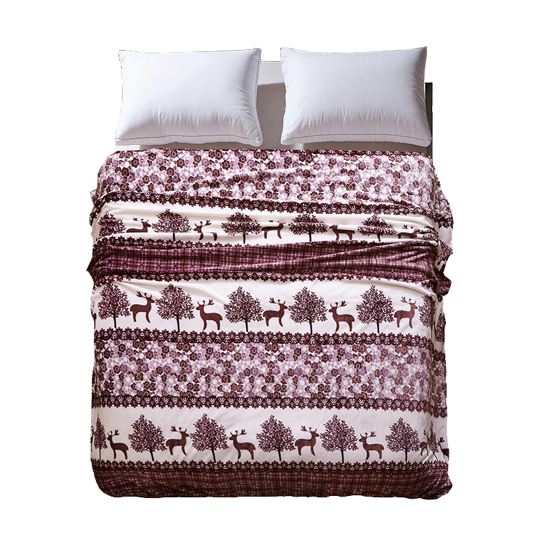 svetanya christmas blanket soft fleece bedsheet throws with deer tree pattern twin full queen king size
