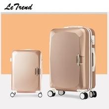Letrend, модные женские чемоданы, чемодан на колесиках, чемодан на колесиках, Спиннер, корейский пароль, дорожная сумка, сумка для переноски багажа, жесткий багажник
