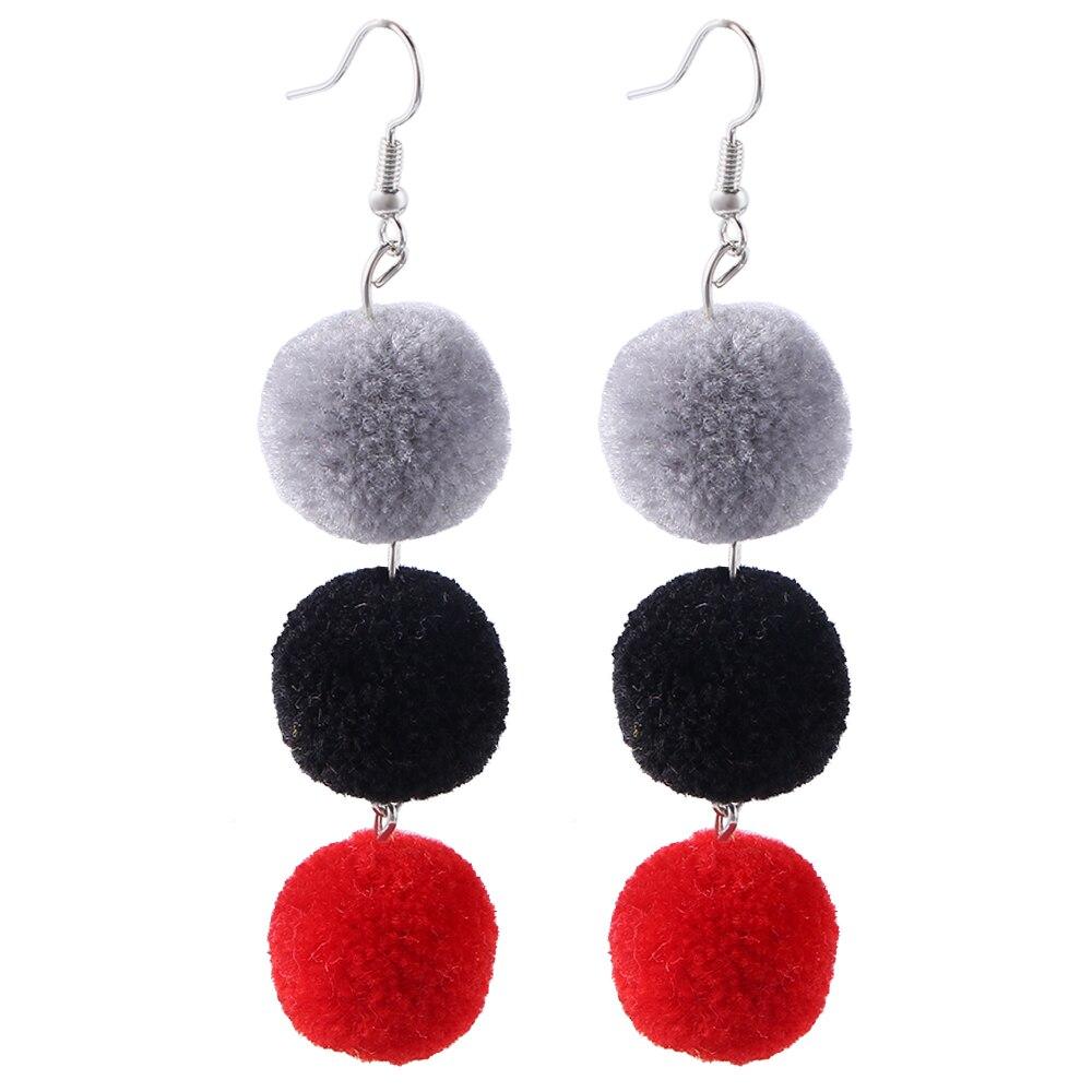 buy korean fashion boho ethnic boucle d 39 oreille pompon big tassel earrings for