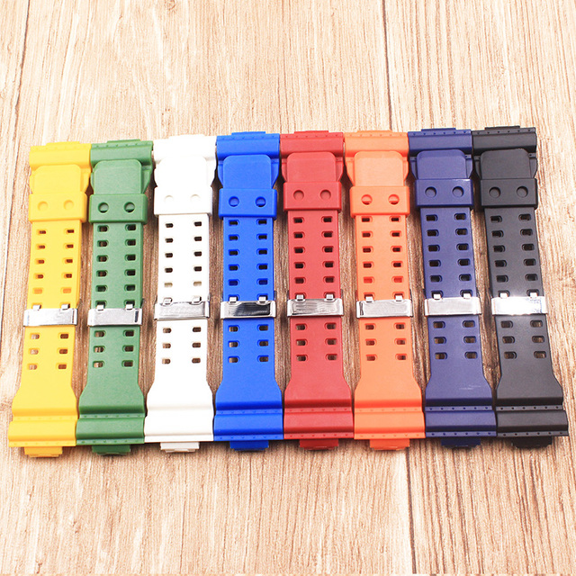 Us 7 25 8 Off The Latest Rubber 16mm Strap Strap Apply To For Casio Ga 100 Ga 100 Ga 120 Ga 120 Gd 100 Gd 120 Ga 100c Watch Accessories In