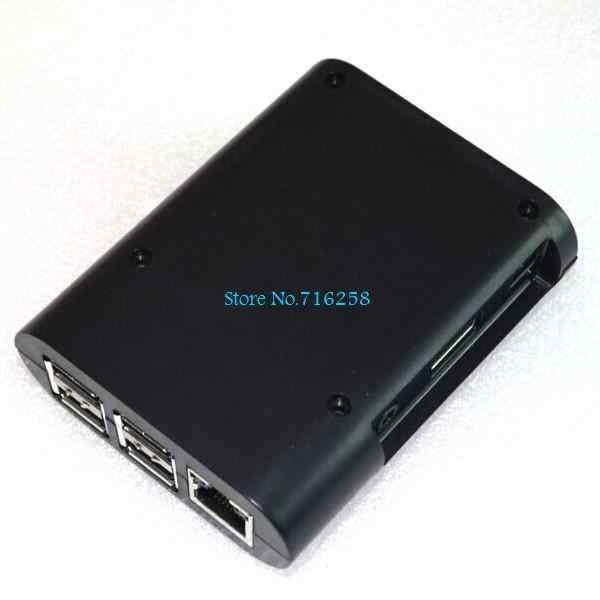 Raspberry Pi 3 Model B & B 3B 3B + Raspberry Pi 3 2 czarna obudowa obudowa obudowa obudowa z abs + 2 sztuk radiator z czystego aluminium
