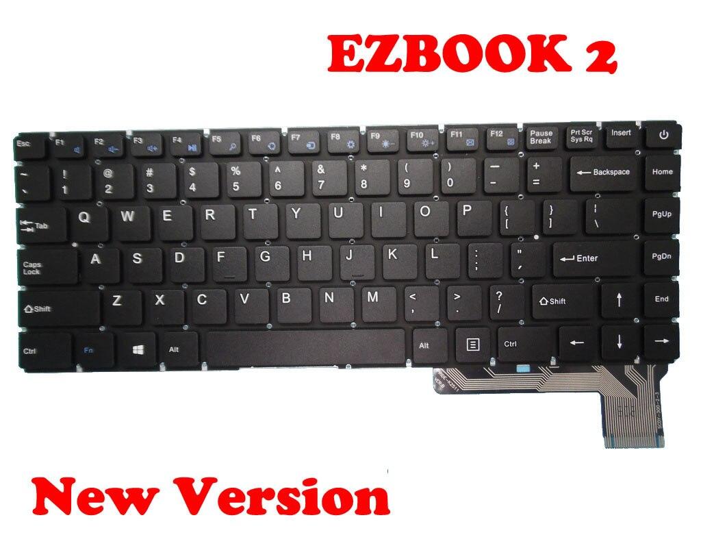 Teclado para Jumper Ezbook Yxt-nb93-37 Scdy-300-2-3 Pride-k2511 Inglês Eua Nova – Versão Antiga 2 Zx300-c Eb10300r001 Mb3002003us