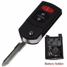 Для Mazda 3 5 6 CX-7 CX-9 MX-5 Miata RX-8 05-13 дистанционного Складной Флип ЧЕХОЛ Для Ключей Брелок SHELL 3 Кнопки С Логотипом