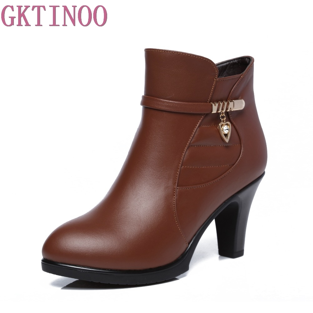 autumn winter ankle boots fashion pointed toe thin heels women shoes high heel genuine leather lady boots arrylinfashion british fashion all match ankle boots top leather autumn botas femininas pointed toe charming thin high heels