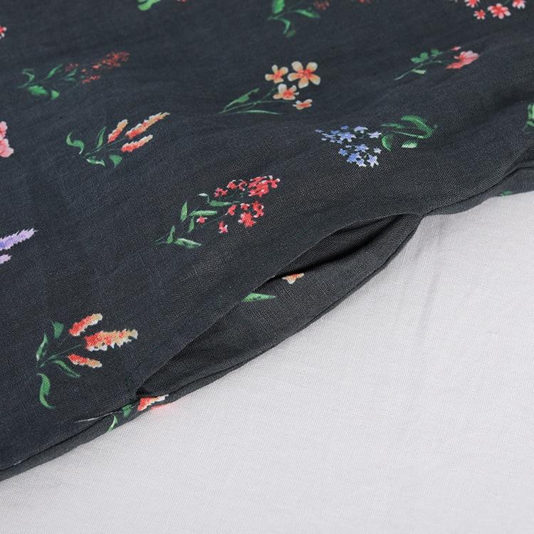 Robes Printemps Linge Vert Robe Nouvelle National À Longues Femmes Manches Coton Vent Automne Floral De Femme Longue Tqw4aFWZ4