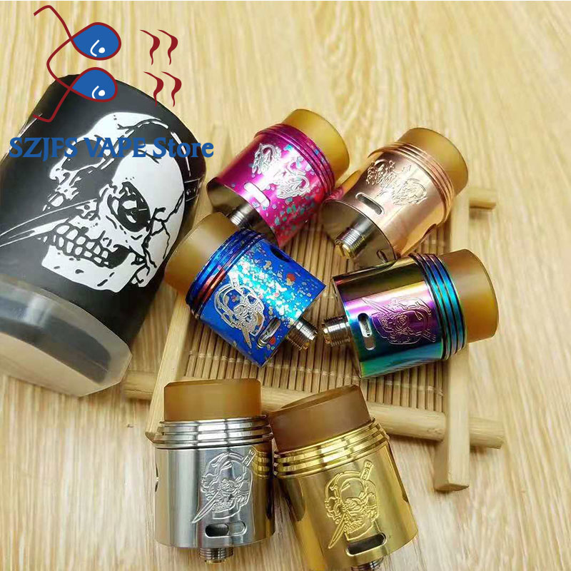 Apocalypse Rapture RDA Rebuildable Atomizer 24mm 510 Thread BF RDA With Wide Bore Drip Tip For Electronic Cigarette Box Mech Mod