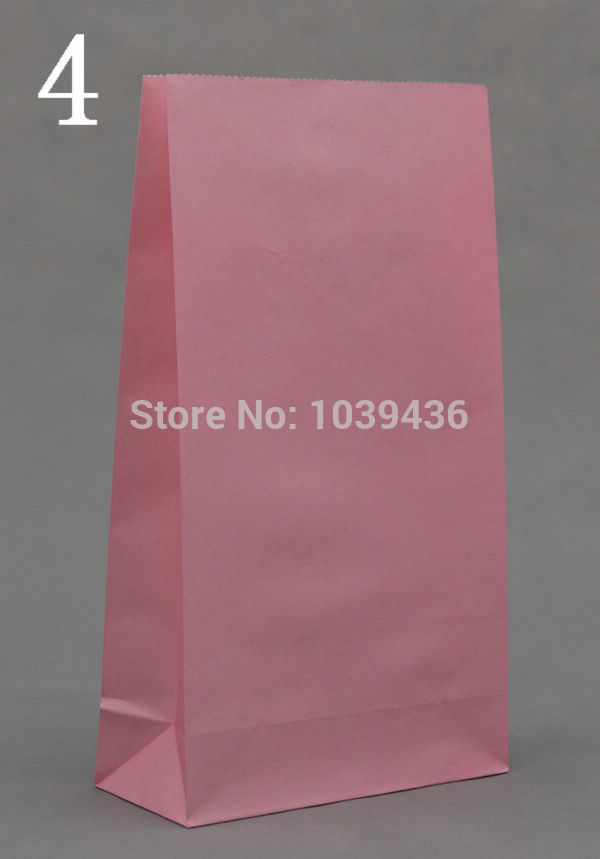 Wholesale 100pcs/lot Pink Paper Bags 23x12x7.5cm Recyclable Gift Bag Jewelry Snacks Candy Packaging Shopping Bags For Boutique