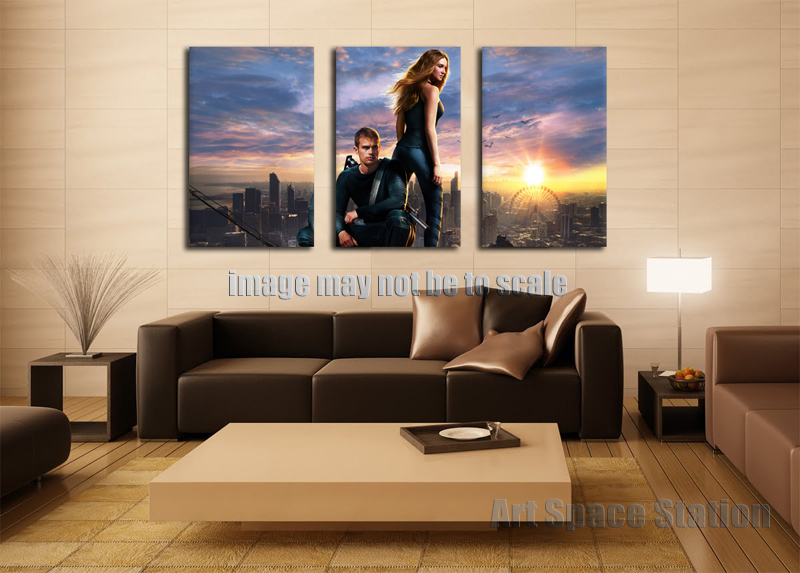 No Frame Modern Home Decor Hd Print On Canvas 2014 Divergent Movie Poster 3 Piece Large Wall Art Picture For Living Room Decor Print Horse Pictures Pictures Of The Monitorpicture Printing Sites Aliexpress