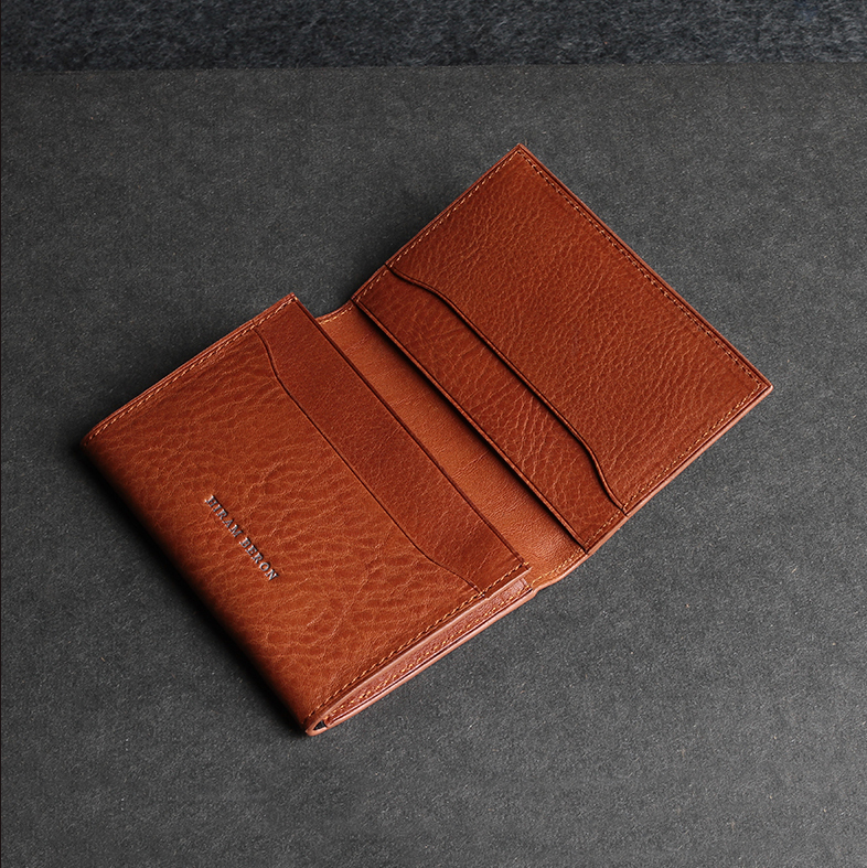 Branded top grain cow leather name brand wallets for men business ...
