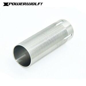 Image 3 - FightingBro cilindro de acero inoxidable para pistola de aire AEG, caja de engranajes de pistola de aire de Paintball M4 AK Gel, 75%, 80%,
