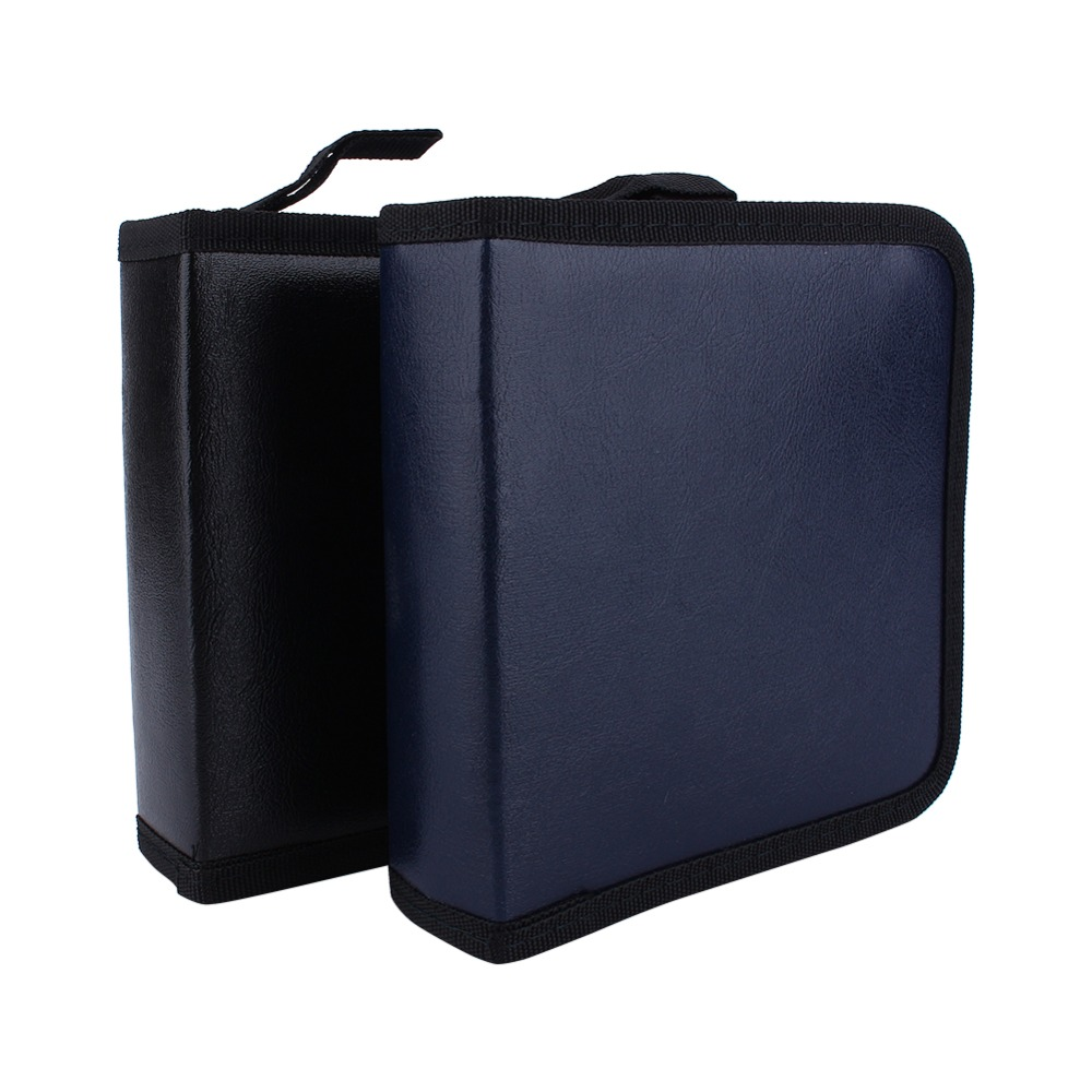 40 Disc Top Quality CD DVD Faux PU Leather Holder Storage Cover Case Organizer Wallet Bag Album