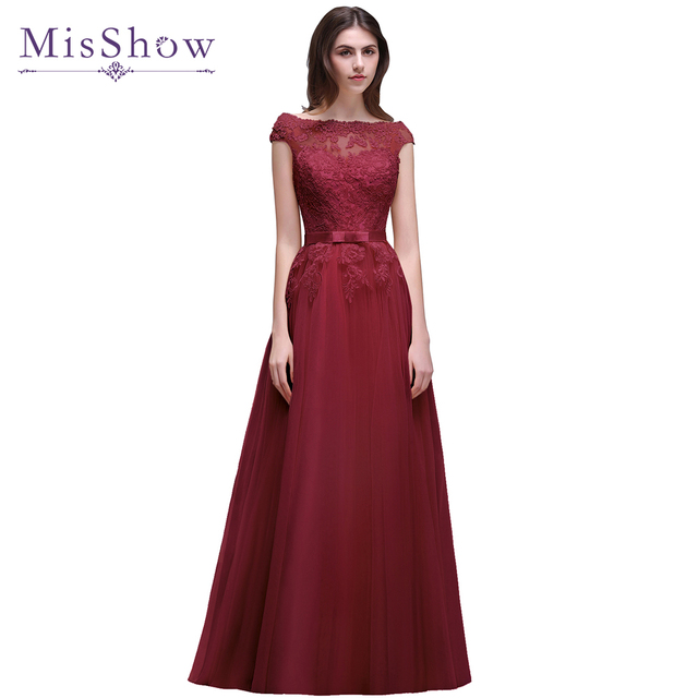 2018 günstige Lange Spitze Applique Blau Rosa Prom Kleid Real Photo ...