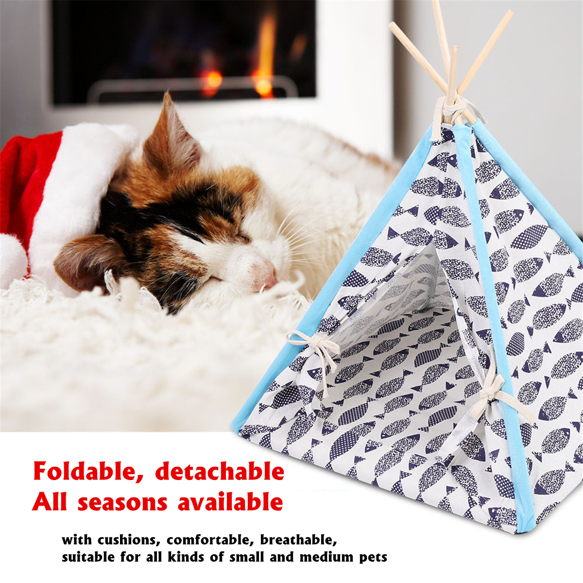 Foldable Linen Pet Dog House Kennels Washable Tent Puppy Cat Indoor Outdoor Portable Teepee Mat Dog Supplies 3 Styles 45X45X60cmFoldable Linen Pet Dog House Kennels Washable Tent Puppy Cat Indoor Outdoor Portable Teepee Mat Dog Supplies 3 Styles 45X45X60cm