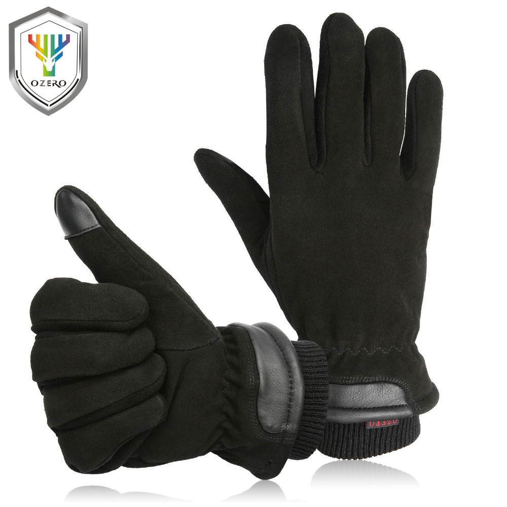 OZERO Men's Winter Gloves With Sensitive Touch Screen