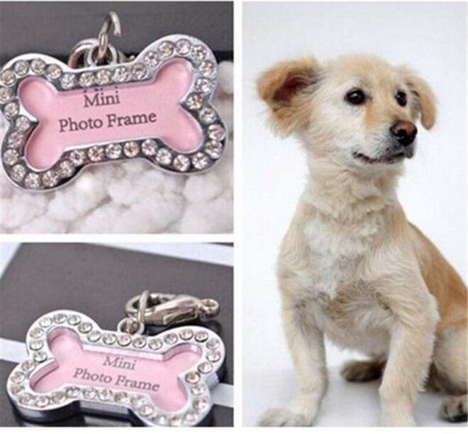Personalizado personalizado perro en forma de hueso Tag de acero ...