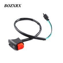 """BOZXRX 7/"""" мотоциклетная мощность зажигания пусковой рожок переключатель кнопки с пулевым разъемом для Yamaha Honda Мотоцикл ATV Dit велосипед"""
