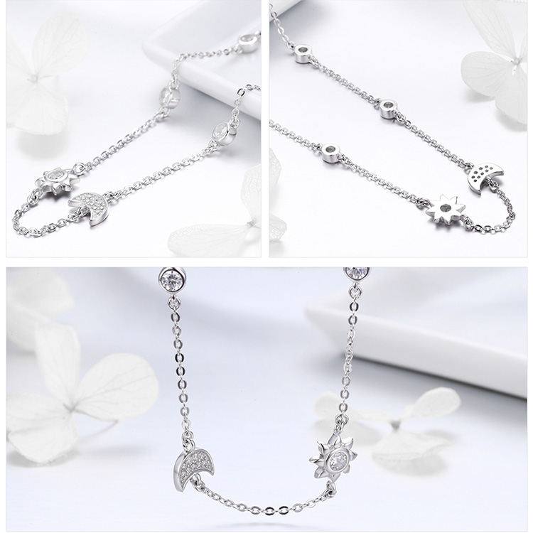 HTB1dnmctkyWBuNjy0Fpq6yssXXaI Mid-Year Sales 925 Sterling Silver Sparkling Moon and Star Exquisite Pendant Necklaces for Women 925 Silver Jewelry Gift SCN272