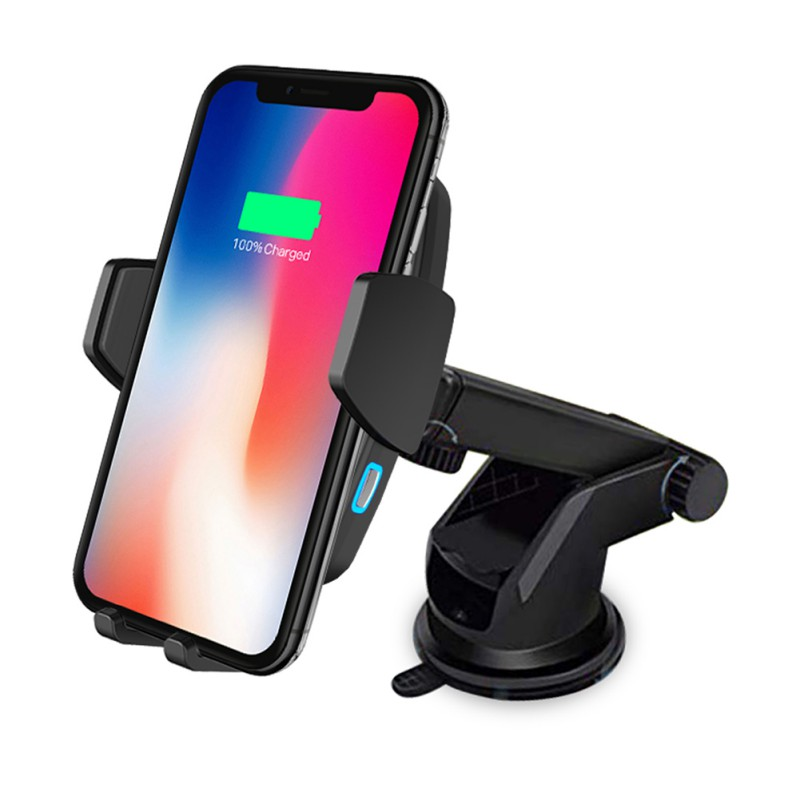 Wireless Car Charger Cellphone Automotive Fast Charging Cradle Stand For IPhone XS Huawei P30 Samsung S10