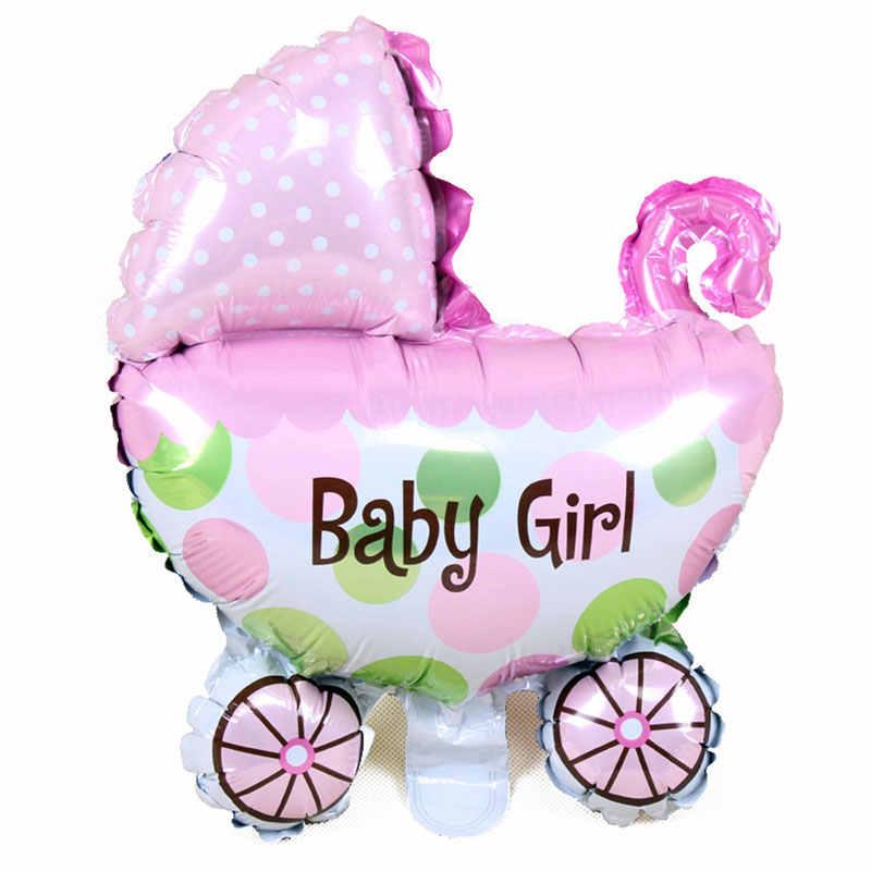 1 מכירה לוהטת מיני מלאך תינוק בקבוק עגלת תינוק אלומיניום בלון ילדה וילד בלון מלא ירח יום הולדת ספקי צד