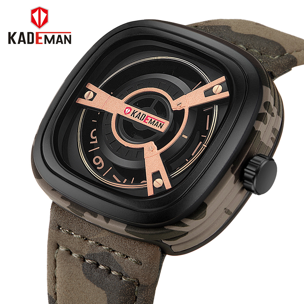 KADEMAN Top Luxury Brand Men Military Watch 30m Waterproof Wristwatch Quartz Clock Analog Sport Watch Male relogios masculino цена и фото