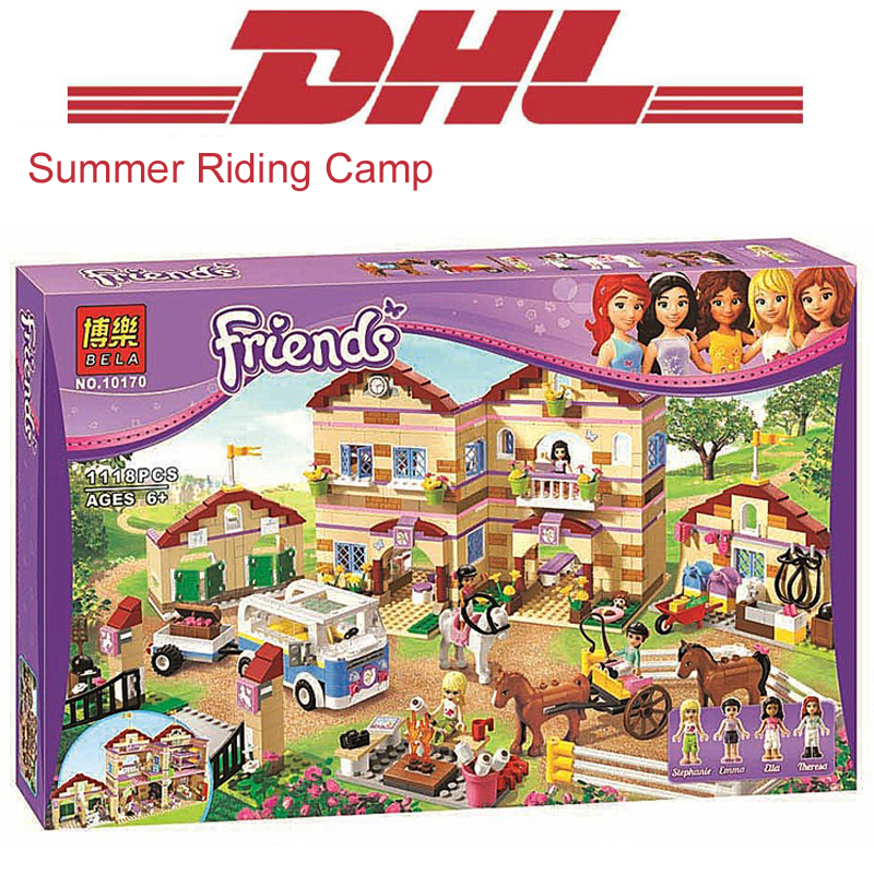 1118Pcs Friend Figures Princess Summer Riding Camp Model Building Kits Blocks Bricks Girl Toys For Children Gift Compatible 3185 10646 160pcs city figures fishing boat model building kits blocks diy bricks toys for children gift compatible 60147