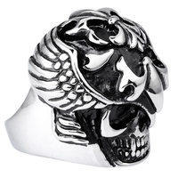 Skeleton Skull Ring Men Ring 2