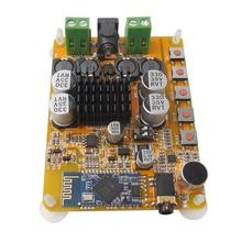 Bluetooth 4.0 TDA7492 Amplificateur Conseil 2*50 W Amplificateur Numérique Double Canal CSR8635 avec un Microphone