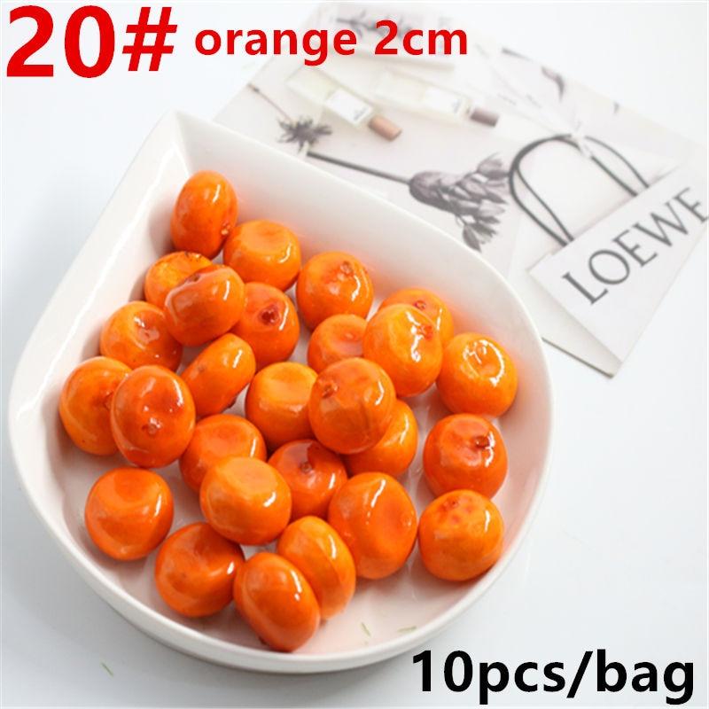 10 Pcs / Lot Simulation Model Of Mini Fruit Decorative Vegetables Artificial Fruit Compote Simulation Orange About 2.5 Cm