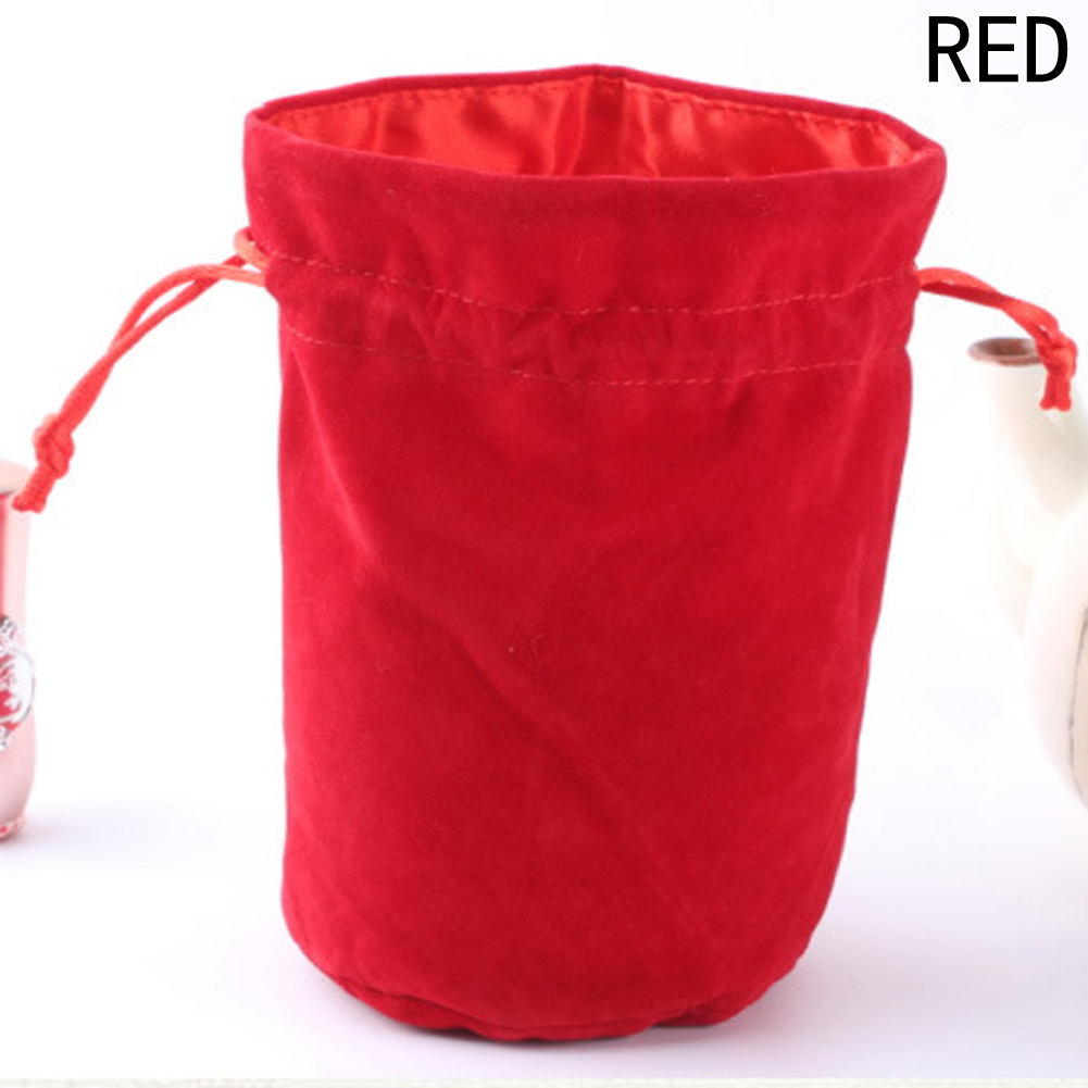 Velvet Bag Drawstring Pouch Black/Red Jewelry Packing Bags Three Colors Multifunction Drawstring Bag 2 Sizes