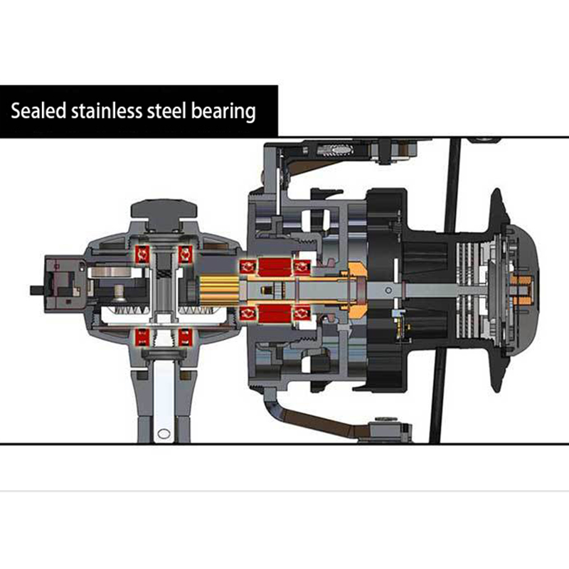 All Metal Profession Water Resistant Drag Spinning Fising Reel 15KG Max Drag 4+1BB Seawater Spinning Fishing Reel carretilha