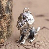 Deer King Silver Pendant Jewelry Wholesale S925 Antique Style Lion Shape Pendant NEW