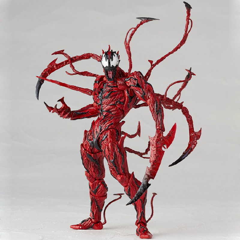 Revoltech Amazing Red Venom Carnage Amazing Captain America Spiderman Magneto Wolverine X-men Action Figures Toy Doll (53)