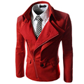 2016 Hot New Uomo Men Coat Overcoat Male Jacket of Autumn Winter Fashion Leisure Slim Oblique Zipper Clothing thanks Brand A50
