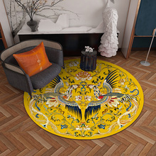 Chinese luxury Round network ins carpet home bedroom bedside entrance elevator floor mat sofa coffee table anti slip carpet fashion round carpet bedroom ins bedroom living room coffee table mat bedside carpet anti slip mat strong absorbent carpet
