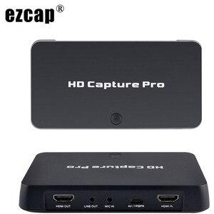 HDMI AV Карта видеозахвата 1080P время запланированной записи ТВ шоу игра Запись Воспроизведение ПК Live для Xbox 360 PS4 ТВ приставка