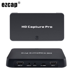 Hdmi avビデオキャプチャカード1080時間予約録画テレビ番組ゲーム記録再生pcライブxbox 360 PS4テレビセットトップボックス