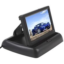 4.3 Inch 480 x 272 HD Car Monitor Foldable Auto Parking Rearview Backup Mirror Support Video PAL/NTSC цены онлайн