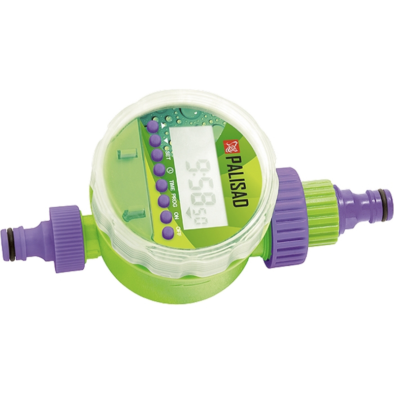 Irrigation timer PALISAD 66191 digital quartic timer 4 digitals tact switch 0 39 height led ce certificate