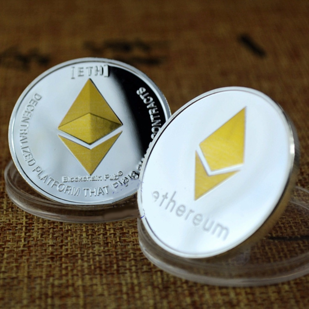 1 Pc Eth Programmierung Ethereum Bitcoin Splendid Überzogene Gedenk Sammeln Physikalische Münzen Souvenir Programmierer Amateur Geschenk