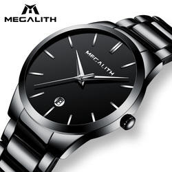 MEGALITH Men Watch Waterproof Date Calendar Analogue Wristwatches Mens Business Casual Quartz Watches For Man Clock Reloj Hombre